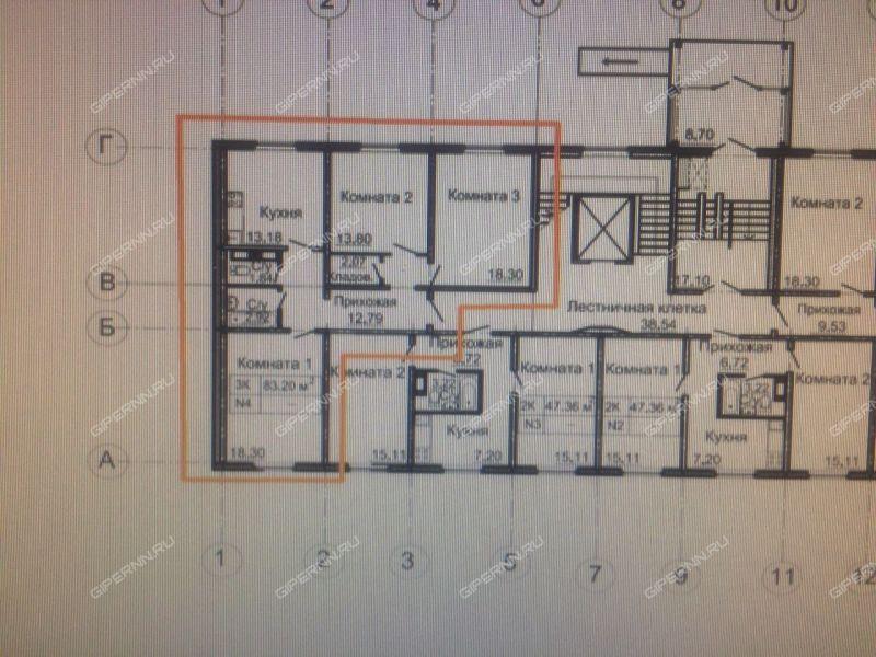 трёхкомнатная квартира на улице Мончегорская дом 12 к4