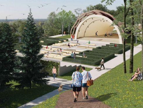 Новый Александровский сад: три террасы, дендрарий и «ракушка»