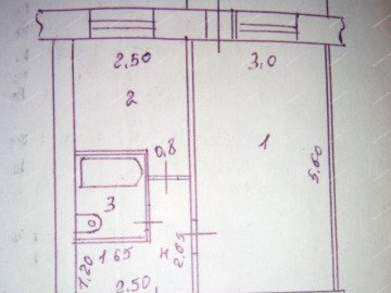 однокомнатная квартира на улице Дзержинского дом 103 город Балахна