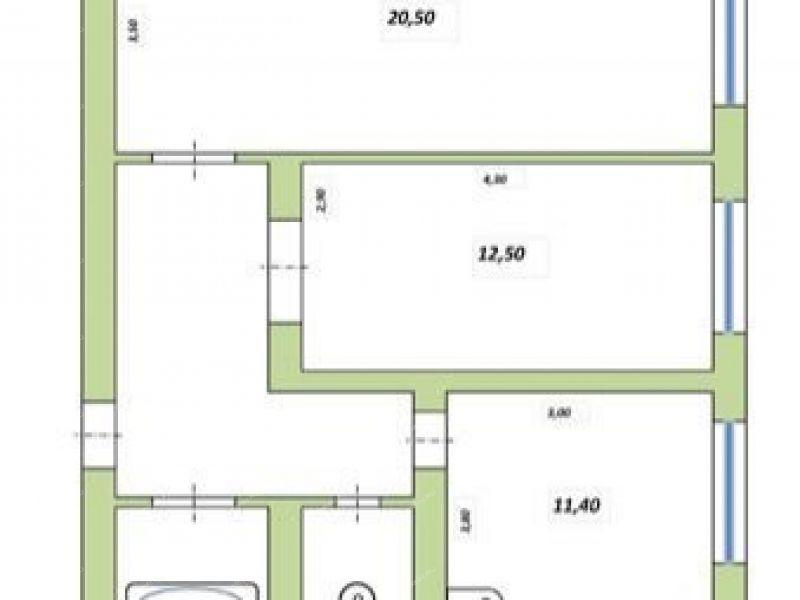 двухкомнатная квартира на улица 70 лет Октября село Сеченово