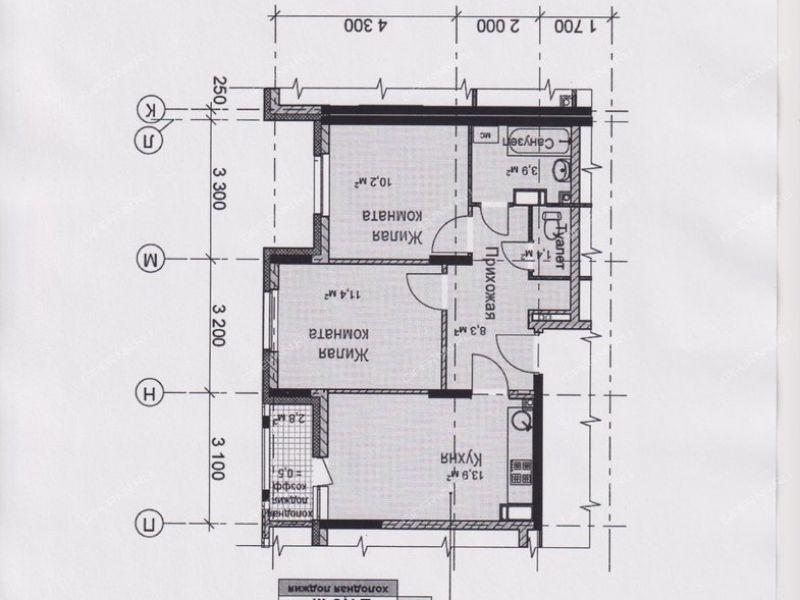 двухкомнатная квартира в границах улиц имени Маршала Рокоссовского, Генерала Ивлиева, Казанское шоссе, дом №28