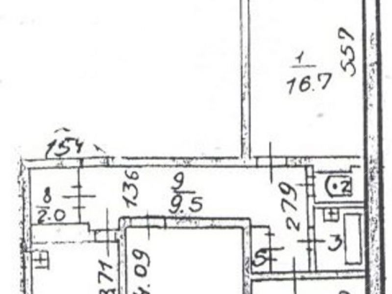трёхкомнатная квартира на улице 40 лет Победы дом 9