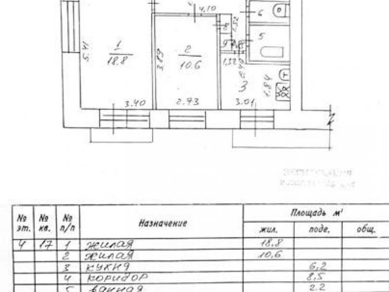 двухкомнатная квартира на улице Куйбышева дом 15 город Саров